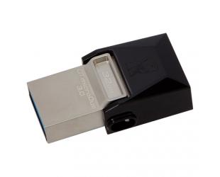 USB raktas Kingston DataTraveler microDuo 32GB USB 3.0 / microUSB Metal/Black