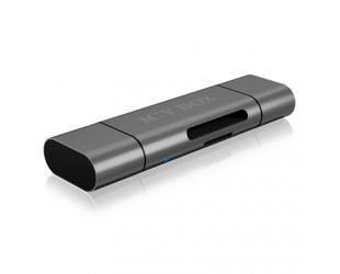 Kortelių skaitytuvas Icy box IB-CR200-C SD/MicroSD (TF) USB 2.0 card reader with Type-C and -A to micro USB (OTG) interface, Micro SDHC, Micro SDXC, microSD 3.0 UHS-I SD, SDHC, SDXC, SD 2.0 UHS-I, MMC