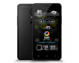 "Mobilus telefonas Allview P4 Pro Black, 4.2 "", HD IPS, 768 x 1280 pixels, Internal RAM 1 GB, 8 GB, microSD, Dual SIM, 3G, 4G, Main camera 5 MP, Secondary camera VGA MP, Android, 7.0, 1600 mAh"
