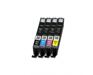 Rašalo kasetė Canon CLI-551 C/M/Y/BK Multipack , Black, Cyan, Magenta, Yellow