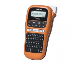 Terminis etikečių spausdintuvas Brother Industrial durable label maker PTE110VP Thermal, Label Orange