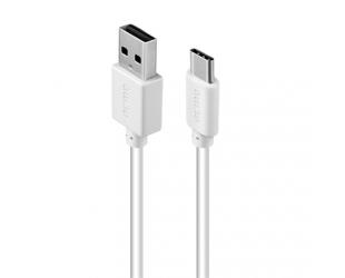 Kabelis Acme Cable CB1041W 1 m, White, USB A, Type-C