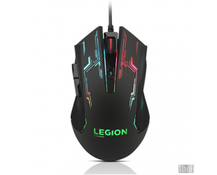 Pelė Lenovo Mouse Legion M200 Wired, No, No, RGB Gaming Mouse, Black