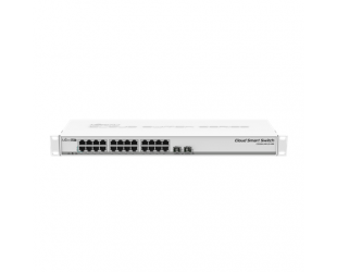 Komutatorius (Switch) MikroTik Cloud Smart CSS326-24G-2S+RM Managed L2