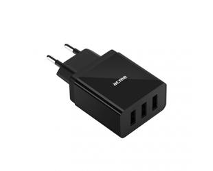 Įkroviklis Acme CH206 3 x USB Type-A, Black, DC 5 V, 3.4 A (17 W)