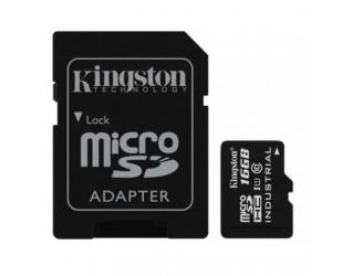 Atminties kortelė Kingston Industrial Temperature UHS-I U1 16GB Micro SDHC CL10 su SD adapteriu