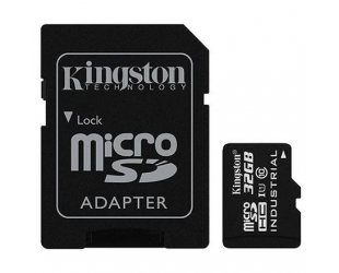 Atminties kortelė Kingston Industrial Temperature UHS-I U1 32GB Micro SDHC CL10 su SD adapteriu