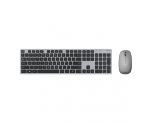 Klaviatūra Asus W5000 Keyboard and Mouse Set, Wireless, Keyboard layout Russian, Grey, Wireless connection Mouse: USB, Mouse included, 460 g