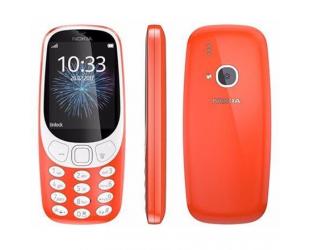 "Mobilus telefonas Nokia 3310 (2017) Red, 2.4 "", TFT, 240 x 320 pixels, 16 MB, Dual SIM, Micro-SIM, Bluetooth, 3.0, USB version microUSB 2.0, Built-in camera, Main camera 2 MP, 1200 mAh"
