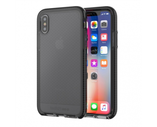 Dėklas Tech21 Evo Check for iPhone X, Smokey/Juoda