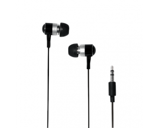 Ausinės Logilink Earphone Stereo HS0015A Black įstatomos į ausis