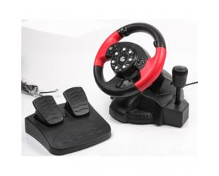 Žaidimų vairas Gembird STR-MV-02 vibruojantis su pedalais skirtas PC/PS2/PS3