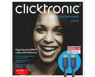Kabelis Clicktronic 70303 High Speed HDMI cable with Ethernet, 2 m