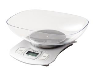 Virtuvinės svarstyklės Adler Kitchen scale AD 3137s Maximum weight (capacity) 5 kg, Graduation 1 g, Display type LCD, Silver