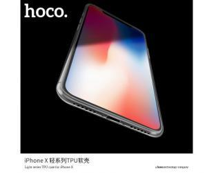Dėklas hoco. Light series, Apple, iPhone X, TPU, Skaidrus