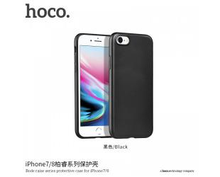 Dėklas hoco. Bode raise series, Apple, iPhone 7 Plus /8 Plus, PC back +TPU four edges surrounded, Juoda