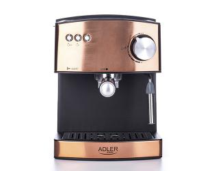 Kavos aparatas Adler Espresso coffee machine AD 4404cr Pump pressure 15 bar, Built-in milk frother, Semi-automatic, 850 W, Cooper/ black
