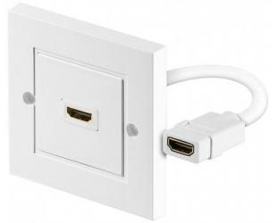 Adapteris Goobay 51722 HDMI wall socket, gold-plated Goobay