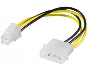 Kabelis Goobay 51362  PC power cable/adapter; 5.25 inch male to ATX12 P4;