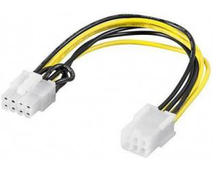 Kabelis Goobay 93635 Power cable/adapter for PC graphics card; PCI-E/PCIExpress; 6-pin to 8-pin, 0.2m