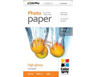Popierius ColorWay Photo Paper 100 pc. PG1801004R Glossy, 10 x 15 cm, 180 g/m²