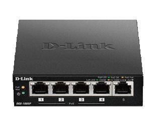 Komutatorius (Switch) D-Link DGS-1005P Unmanaged