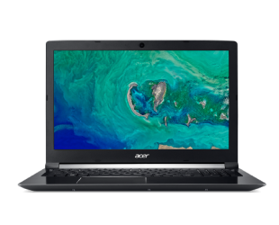 "Nešiojamas kompiuteris Acer Aspire 7 A715-72G Black 15.6"" FHD i5-8300H 8GB 500GB+128GB SSD GeForce 1050 4 GB Windows 10"