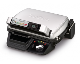 Elektrinis grilis TEFAL SuperGrill Timer Multipurpose grill GC451B12 Contact, 2000 W, Stainless steel