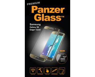 Ekrano apsauga PanzerGlass Premium 1022 Samsung, Galaxy S6 Edge Plus, grūdintas stiklas, skaidrus/Geltona (auksinė)