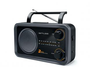 Radijo imtuvas Muse 2-bands M-06DS Grey, AUX in