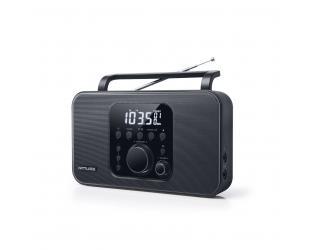 Radijo imtuvas Muse Radio M-091R Black, AUX in, žadintuvas