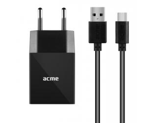Įkroviklis Acme CH212 Type C, 1 x USB type A, Black, DC 5 V, 2.4 A (12 W)