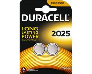 Barterijos Duracell Button Cells DL2025 Lithium, 2 vnt