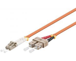 Kabelis Goobay 96141 Optical fibre cable, Multimode (OM2) Orange, 1 m Optical fiber