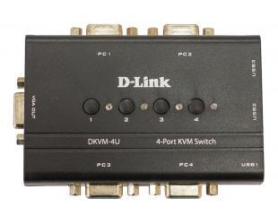 Komutatorius D-LINK DKVM-4U, 4-port KVM Switch with VGA and USB ports