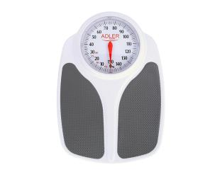 Svarstyklės Adler Bathroom scales AD 8153 Maximum weight (capacity) 180 kg, Accuracy 1000 g, Multiple user(s), White,