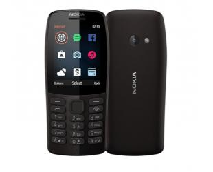 "Mobilus telefonas Nokia 210 Black, 2.4 "", TFT, 240 x 320 pixels, 16 MB, Dual SIM, Bluetooth, 3.0, USB version microUSB, Main camera 0.3 MP, 1020 mAh"