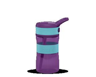 Gertuvė Boddels EEN, Turqouise blue/ Purple, tūris 0.4 L, pagaminta be BPA