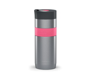 Termo puodelis Boddels KOFFJE Travel mug Raspberry red, tūris 0.37 L, Dishwasher proof, pagaminta be BPA