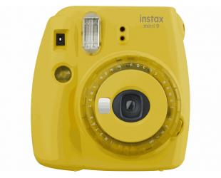 Momentinis fotoaparatas Fujifilm Instax Mini 9 + Instax mini glossy popierius (10 vnt) Clear Yellow