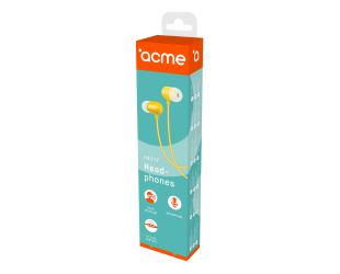 Ausinės ACME HE21Y įstatomos į ausis, su mikrofonu