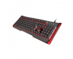 Žaidimų klaviatūra Genesis NKG-0913, Gaming keyboard, RGB LED light, US, Black, Wired, Rhod 410,