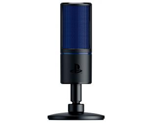 Mikrofonas Razer Seiren X Cardioid Condenser Microphone, 3.5 mm, Black, blue, Zero-latency 3.5 mm headphone monitoring port
