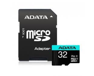 Atminties kortelė ADATA Premier Pro UHS-I U3 32GB Micro SDHC CL10 su SD adapteriu