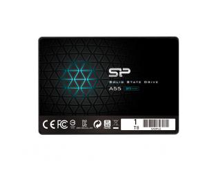 SSD diskas Silicon Power A55 1000 GB, SSD interface SATA, Write speed 530 MB/s, Read speed 560 MB/s