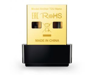 Wifi adapteris TP-LINK Dual Band USB 2.0 Adapter Archer T2U Nano 2.4GHz/5GHz, 802.11ac, 200+433 Mbps