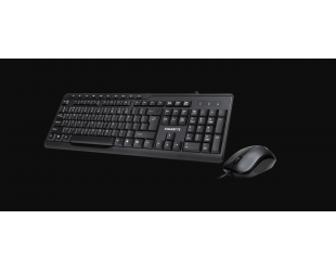 Klaviatūra Gigabyte Multimedia Keyboard & Mouse set KM6300 Keyboard and mouse, Wired, Keyboard layout EN, Mouse included, USB, Black