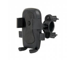 "Laikiklis Gembird TA-BH-01 6 "", Universal smartphone bicycle holder, Black, Adjustable,"