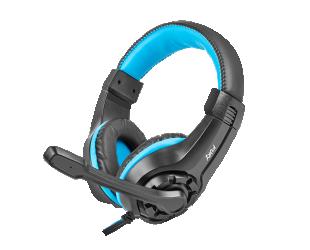 Ausinės Genesis Gaming headset, 3.5 mm, Wildcat, Black/Blue, Built-in microphone