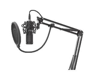 Mikrofonas Genesis Gaming Microphone, USB, Radium 400, Black